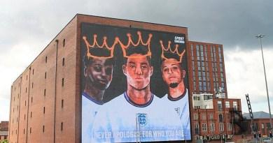 Marcus Rashford, Jadon Sancho and Bukayo Saka get a giant mural following racial abuse after Euro 2020 final