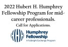 Hubert H. Humphrey Fellowship Programme for Mid-level Career Professionals