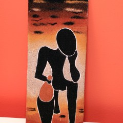 The Thinker - Sand Painting