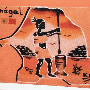 Senegal & Africa Woman - Sand Painting