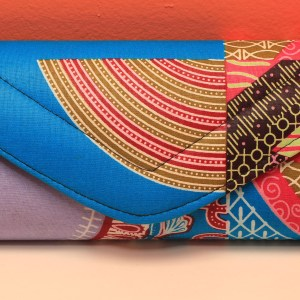 Blue African Fabric Small Purse