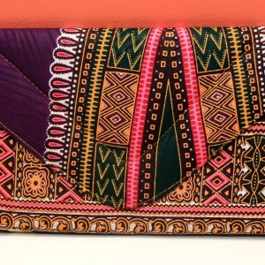 Purple & Pink African Fabric Big Purse