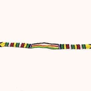 Small Multicolored 4 African Beaded Necklace