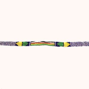 Small Multicolored 2 African Beaded Necklace