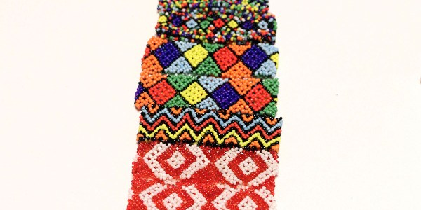 African Elastic Beaded Bracelet