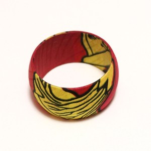 Red, Yellow & Black African Print Bangles
