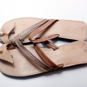 Camel & Brown African Leather Sandals