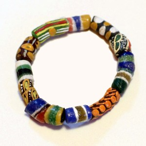 Multicolored African Trade Beads
