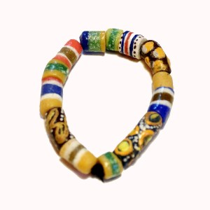Dark Brown & Yellow African Trade Beads