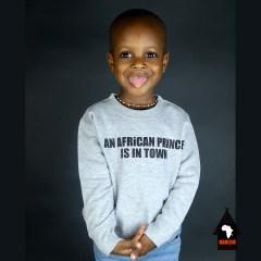African Prince Crewneck Sweatshirt Grey & Black