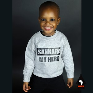 Unisex Sankara My Hero Crewneck Sweatshirt Grey & Black – Kids