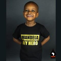 Mandela My Hero T-shirt Noir & Doré – Enfants