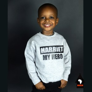 Unisex Harriet My Hero Crewneck Sweatshirt Grey & Black – Kids
