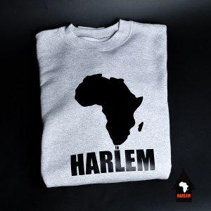 Unisex Africa in Harlem Crewneck Sweatshirt Grey & Black
