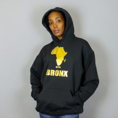 Africa in the Bronx Hooded Sweatshirt Gold