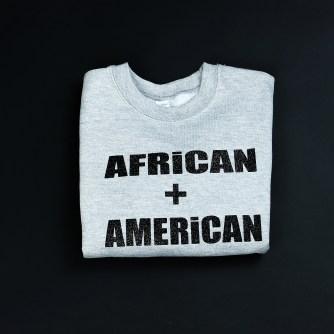 Africa + American Sweatshirt Black