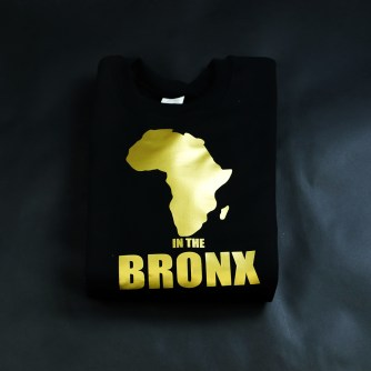 Africa in the Bronx Crewneck Sweatshirt Gold