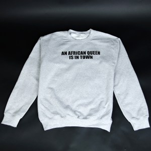 African Queen Crewneck Sweatshirt Grey & Black