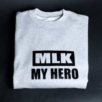 MLK My Hero Grey & Black