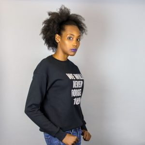 Unisex We Will Never Forget 1619 Black & Grey Crewneck Sweatshirt