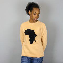Unisex Africa Black & Sand Crewneck Sweatshirt