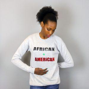 Unisex African + American Crewneck Sweatshirt Green