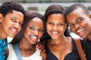 groupe d'étudiants afro-américains