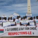 Sit in per il Gambia