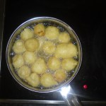 Corn and Banana Dumplings - frying