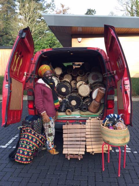 van of drums
