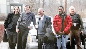Handout photo of John Prendergast, Eric Reeves, Brian D'Silva, Ted Dagne and Roger Miller