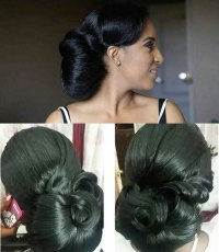 Black Bridal Hairstyles for Long Hair | African American ...