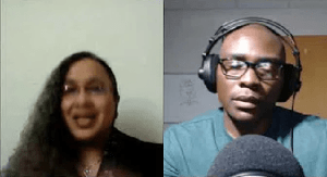 Screenshot of Marie Stroughter and Roderick Graham