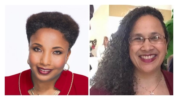 Photo of Dr. Carol Swain and African American Conservatives co-founder Marie Stroughter discussing school choice on the Be the People podcast.