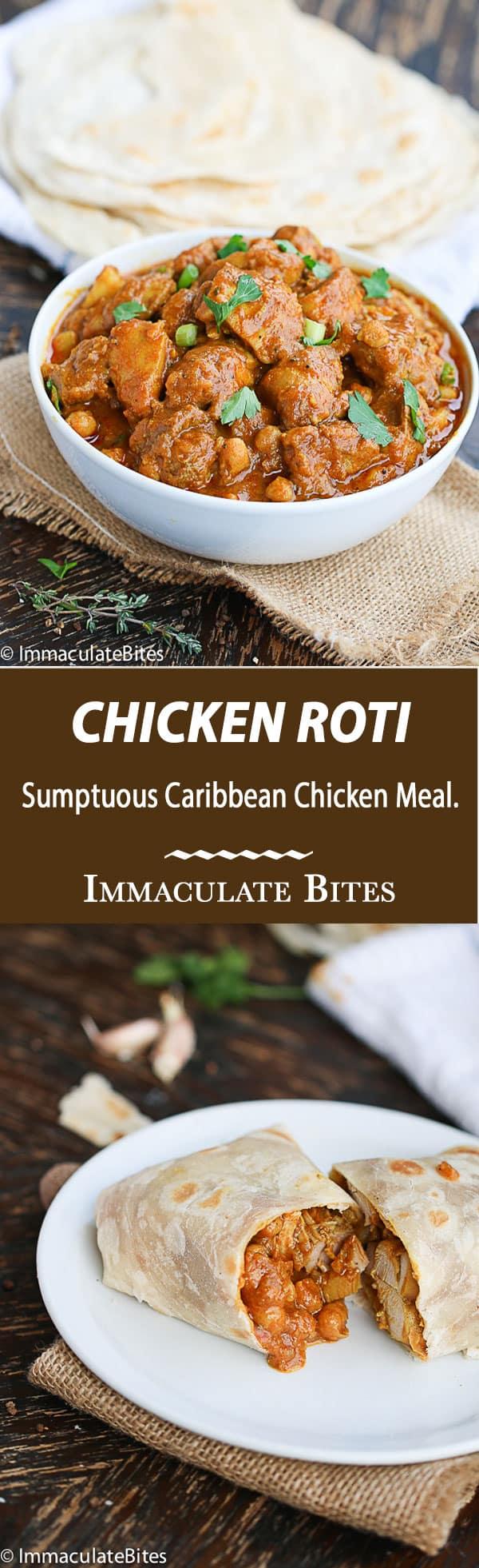 Trinidad Chicken Roti - Immaculate Bites