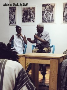 Ghanaian authors - Ayesha H. Attah and Ayi Kwei Armah in conversation at 'Brazil House' James Town, Accra.