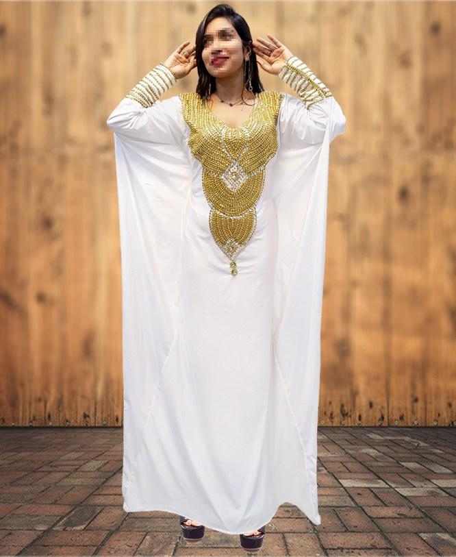 New Arrival Tall Tube Woman African Abaya Kaftan