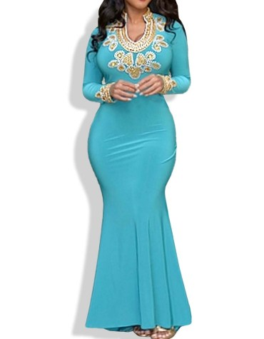 Superior Spandex Mermaid Body Fit Prom dress for Women