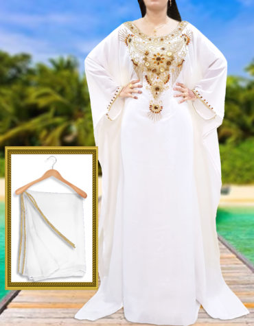 Elegant Gown Plus Size African Attire Dresses for Women Fancy Dubai Kaftan