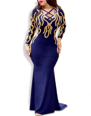 Elegant Criss-Cross Design Mermaid Prom African Dresses