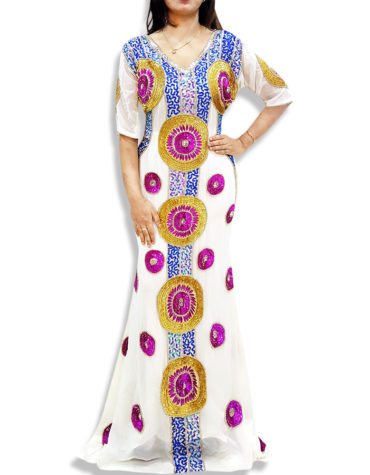 Dubai kaftan Bridesmaid African Attire Beaded Fancy Abaya Evening Dresses