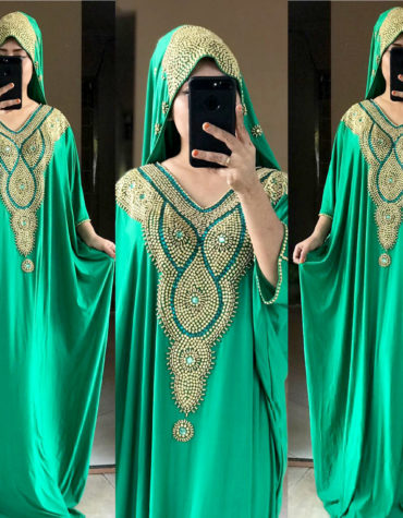 African Moroccan Kaftan Muslim Wedding Plus Size Formal Dubai Abaya for Women