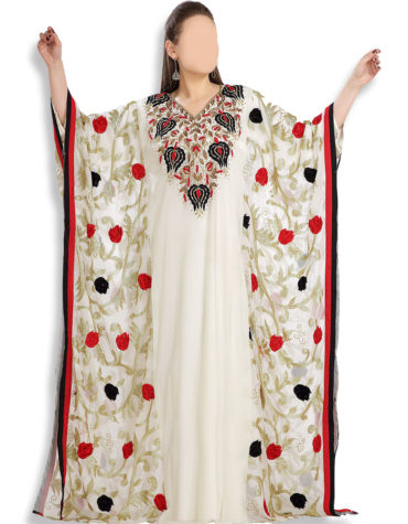 White Kaftan African Gowns Formal Evening Wedding Party Dresses for Dubai women