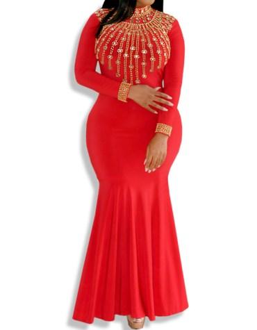 Fancy Moroccan Kaftan Maxi Wedding Party Long Sleeve Formal Dresses Women Abaya
