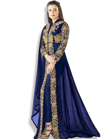 Fancy Heavy Embroidery Work Stitched Chiffon Anarkali
