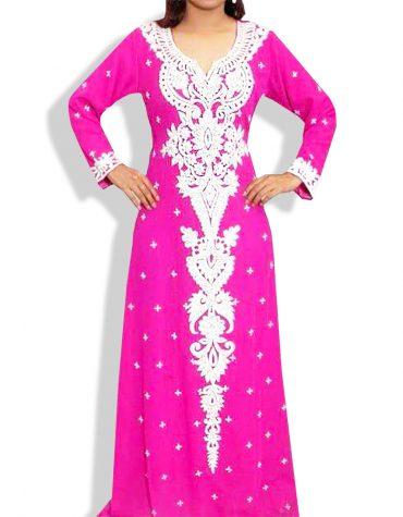 Layered Design For Beautiful Zari Work Abaya