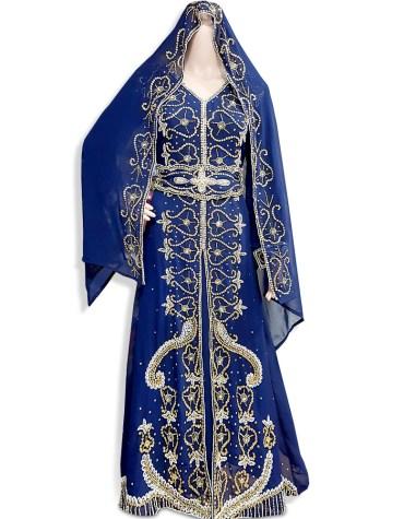 Women Muslim Formal Wedding Dress Beaded Abaya African Caftan Dubai Kaftan Dresses