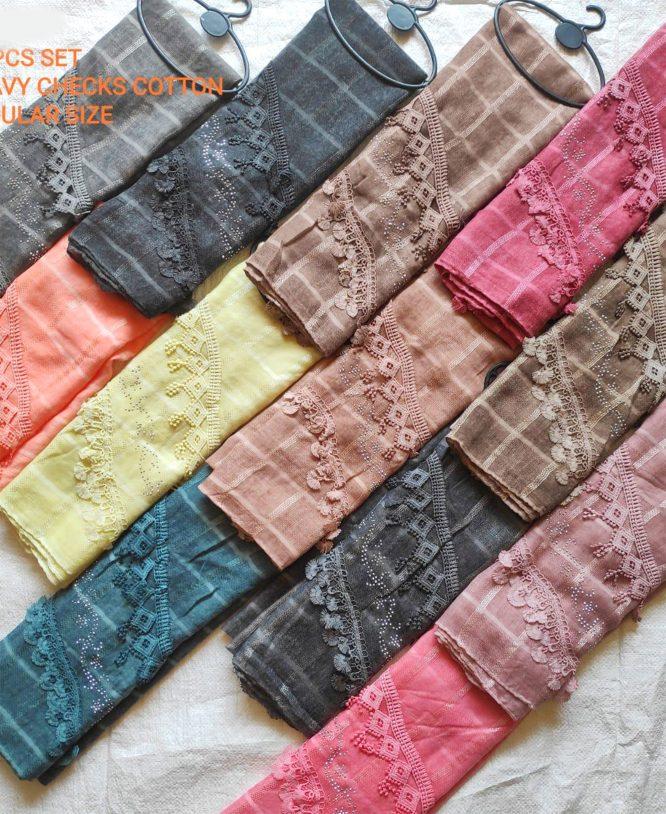 Beautiful Flower Embroidery Lace Handmade Moroccan Dubai Cotton Head Scarf