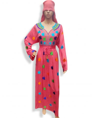Elegant Embroidered Women Party Wear Long Stitched Dubai Rayon Gown