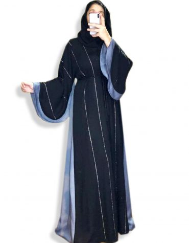 Latest Islamic Designer Soft Nida Fabric Long Sleeve Black Dubai Abaya for Women